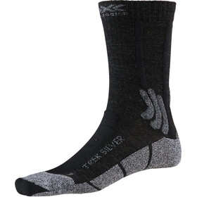 X-Socks Trek Silver Calze Uomo, opal black/dolomite grey melange